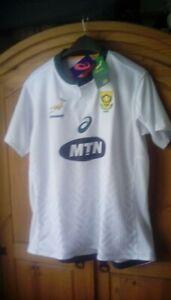 South Africa Rugby Men's Asics Springboks Away Shirt - 3XL - White - New