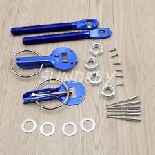 Universal Car Hood Mount Bonnet Latch Catch Pin Key Locking Kit Blue
