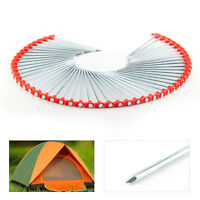 50 X Metal Tent Pegs Hard Ground Standing Camping Awning Pegs Heavy Duty Top UK