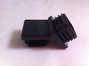 "50 Plastic Black Blanking End Cap Caps Square Tube Insert 25mm 1"" Box Section"