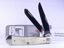 Case 2013 Burnt Natural Jigged Bone Trapper Folding Pocket Knife 71020