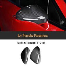 Carbon Fiber Auto Side Rearview Mirror Cover Decor For Porsche Panamera 17-19