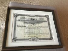 Old Stock Certificate  (1892) of Alhambra Mining Company.