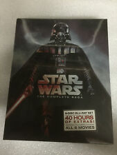 Star Wars: The Complete Saga (Blu-ray Disc, 2011, 9-Disc Set, Boxed Set) Sealed
