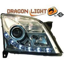 LHD Phares Projecteur Paire LED Dragon Transparent Chrome H7 H1 pour Opel Vectra