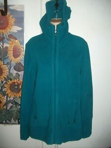 Adidas Clima Warm Fleece Jacket, Full Zip, Hooded in Teal Green - Size XL