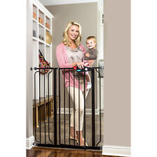 Regalo Extra Tall Black Baby Gate, 29'-40' With Walk Through Door