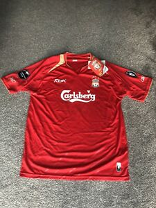 Liverpool Champions League Shirt 2005-06 BNWT Sissoko 22 Mint Condition! Size L