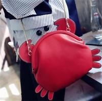 Crab Shape Handbag Ladies Chain Clutch Shoulder Bag Messenger Bag Tote Purse Toy