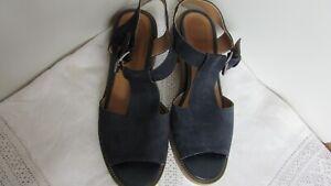 Navy suede sandals size 5