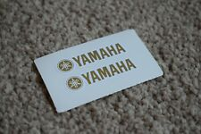 Yamaha Decal Stickers Motorbike Race Racing Motorcycle Tank Fairing Gold 100mm