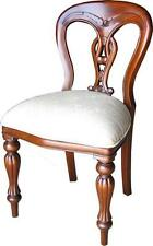 Solid Mahogany Admiralty Side Chair / Dining Chair Cream Upholstery CHR007