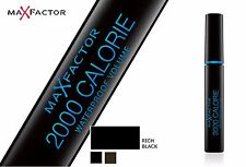 3 X Max Factor 2000 Calorie Waterproof Volume Rich Black Mascara 9ml