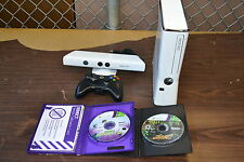 Xbox 360 Special Edition 4GB Kinect Sports Bundle White Very Good 8Z