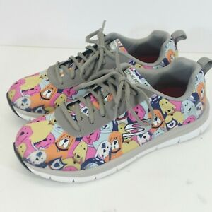 Skechers Women Work Slip Resistant Relaxed Fit Comfort Flex Dog Party Size 8