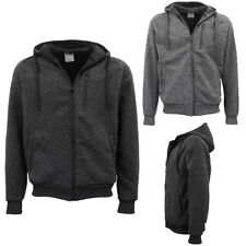 Mens Zip Fleece Hoodie w Side Pocket Jacket Gym Sport Casual Sweater Jumper Coat