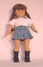 Light Denim Pleated Skirt  Fits 18 inch American Girl Dolls