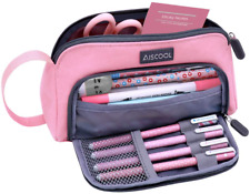 Aiscool Big Capacity Pencil Case Bag Pen Pouch Holder Large Storage Stationery O