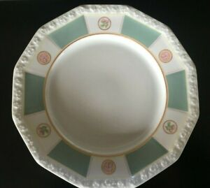 set 6 piatti piani 27,5cm Rosenthal maria rosamagica verde porcellana
