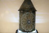 Rare Unique Richard Picard Tinsmith Signed 1982 Pierced Tin Lantern Ser # 193R