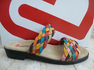 Berkemann Ladies Mules Slippers Leather Multicolour 02424 New