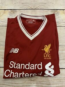 LIVERPOOL LFC 125 YEARS 2017/18 HOME FOOTBALL SHIRT SOCCER JERSEY #7 NB Sz Small