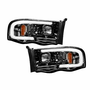 RECON 264191BKC Dodge Ram 02-05 1500  2500  3500 Smoked-Black Headlights