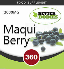 MAQUI BERRY 2000MG (360 pack) Extract Tablets Powerful Antioxidant