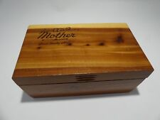 Vintage Cedar Box MOTHER Great Smoky Mountains Jewelry Trinket