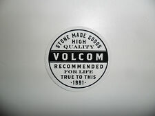 "VOLCOM Decal Sticker - Black / White - Approx. 2.5"""