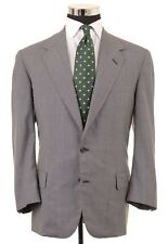 Oxxford Clothes Gray Micro Houndstooth Check Wool Sport Coat Jacket Blazer 43
