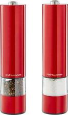 Andrew James Salt & Pepper Mill Set Electric Grinders Illuminated Shakers