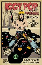 Iggy Pop and The Stooges 1974 Tour Poster