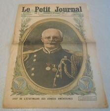 LE PETIT JOURNAL du 22 juillet 1917. LE GENERAL HUGH L.SCOTT en couverture