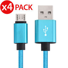4x Micro USB Charger Sync Data Cable Braided For Samsung Galaxy S7 S6 S4 Note 5