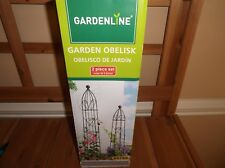 2 Packs Garden Obelisk Metal Trellis Flower Support for Climbing Vines Plants
