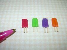 "Miniature ""Lola Originals"" Darling Popsicles, Set of 4: DOLLHOUSE 1/12 Scale"
