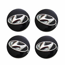 2010-2015 HYUNDAI TUCSON ix35 Genuine OEM Black Wheel Center Hub Cap 4pcs
