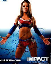 Miss Tessmacher Signed Autograph TNA Impact P-125 8x10 Promo Photo