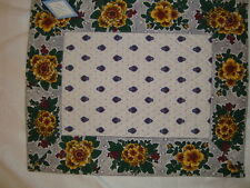 French Provencal table place mat Marat, Avignon, France 100% Cotton, Rectangular