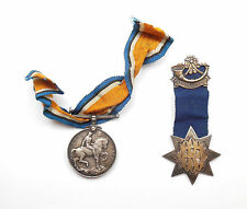 Antique Birmingham 1924 Silver 925 The Knights Of The Golden Horn. K.N.H Medal