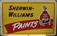 Original Sign Porcelain Sherwin Williams Paint Metal NOS Auto / House  Rare Old
