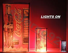 ONE LIGHTED SODA VENDING MACHINE 1:12 DOLLHOUSE MINIATURE !