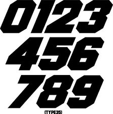 CUSTOM MOTORCYCLE NUMBER PLATE RACING DECALS STICKERS SUPERCROSS SUPERBIKE TRIAL