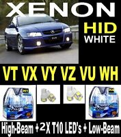 VT VX VY VZ VU WH  XENON HID White Look Halogen Light Bulbs Commodore + LEDS