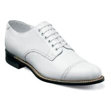 Stacy Adams Men Dress Classic Cap Toe Lace Shoes White Madison Biscuit 00012-07