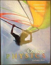 College Physics, Volume 1 (Chapters 1-15) by Alan Giambattista, 978-0072875607