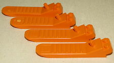 LEGO LOT OF 4 ORANGE BRICK SEPARATOR REMOVAL PIECES