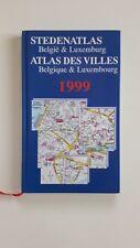 BELGIQUE LUXEMBOURG ATLAS VILLES STEDENATLAS 1999 + PARIS POSTER GUIDE