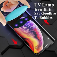 For iPhone Xs Max Xr X Liquid UV Full Glue Tempered Glass Screen Protector Film